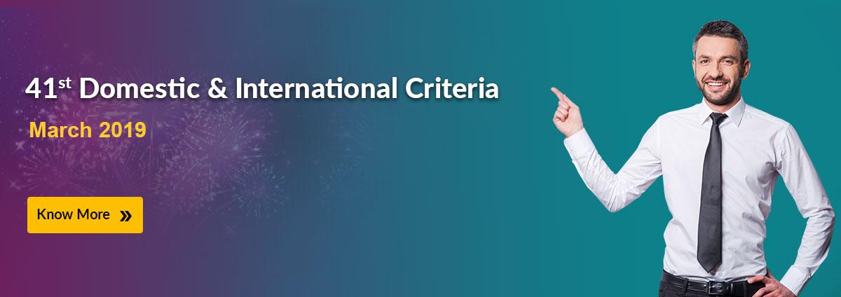 41st Domestic & International Criteria