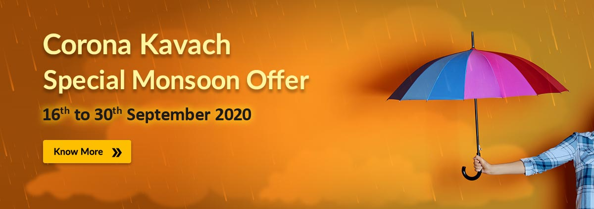 Corona Kavach Special Monsoon Offer